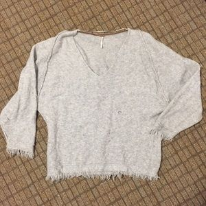 Free People fringed wool sweater